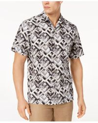 Tommy Bahama - Geo Lounge Silk Shirt, Created For Macy's - Lyst