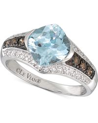 Le Vian - ® Chocolatier Aquamarine (1-3/8 Ct. T.w.) And Diamond (1/4 Ct. T.w.) Ring In 14k White Gold - Lyst