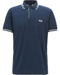 BOSS - Slim-fit Stretch Cotton Polo - Lyst