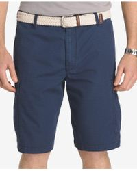 Izod - Men's Cotton Seaside Cargo Shorts - Lyst