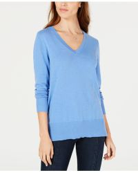 Maison Jules - V-neck Tunic Sweater, Created For Macy's - Lyst