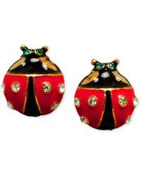 Betsey Johnson - Ladybug Stud Earrings - Lyst