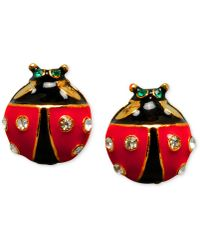 Betsey Johnson - Ladybug Stud Earrings - Lyst