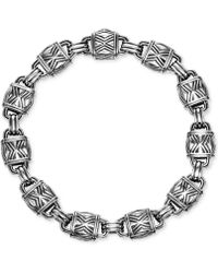 Scott Kay - Men's Decorative Link Bracelet In Sterling Silver - Lyst