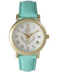 Olivia Pratt - Anchor Leather Strap Watch - Lyst