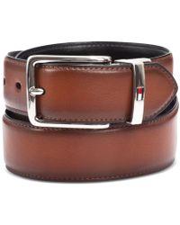 Tommy Hilfiger - Men's Feather-edge Reversible Logo Belt - Lyst