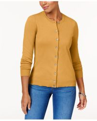 Karen Scott - Crew-neck Cardigan, Created For Macy's - Lyst