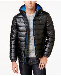 Cole Haan - Men's Faux-leather Puffer Coat - Lyst
