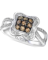 Le Vian - Chocolatier® Diamond Cluster Ring (1/2 Ct. T.w.) In 14k White Gold - Lyst