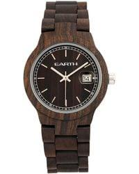 Earth Wood - Biscayne Wood Bracelet Watch W/date Brown 38mm - Lyst