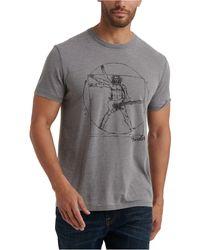 82f9c437ff8c Lucky Brand Fender Skull Thermal T-Shirt in Black for Men - Lyst