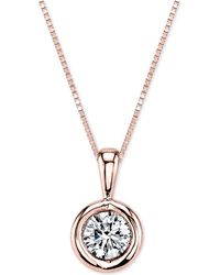 Sirena - Diamond Pendant Necklace (1/5 Ct. T.w.) In 14k White Gold Or Gold - Lyst