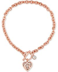 Guess - Logo Link Pendant Necklace - Lyst