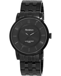 Armitron - Men's Black Stainless Steel Bracelet Watch 42mm 20-4962bkti - Lyst