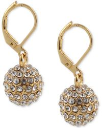 Charter Club - Gold-tone Pavé Ball Drop Earrings, Created For Macy's - Lyst
