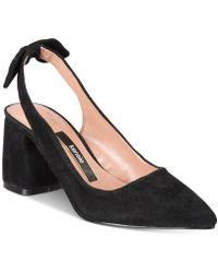 Kensie - Annamaria Block-heel Court Shoes - Lyst