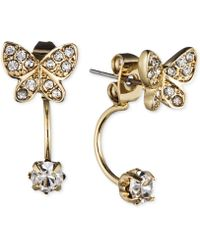 Lonna & Lilly | Gold-tone Crystal Butterfly Front-back Earrings | Lyst