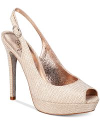 Adrianna Papell - Rita Slingback Evening Court Shoes - Lyst