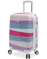 "Steve Madden - Striped 28"" Expandable Hardside Spinner Suitcase - Lyst"