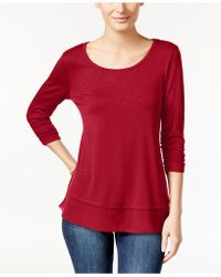 Style & Co. - Petite Chiffon-hem Top, Created For Macy's - Lyst