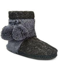Muk Luks | Women's Coralee Boot Slippers | Lyst
