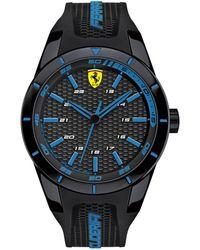 Ferrari - Men's Redrev Black Silicone Strap Watch 44mm 830247 - Lyst