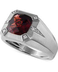 Macy's - Rhodolite Garnet (5-3/4 Ct. T.w.) & Diamond (1/10 Ct. T.w.) Ring In Sterling Silver - Lyst