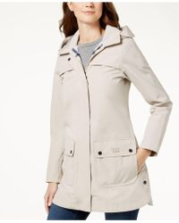 Barbour   Hooded Plaid-lined Raincoat   Lyst