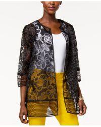 Alfani - Printed Mesh Jacket, Created For Macy's - Lyst