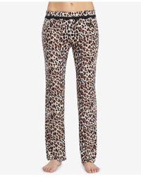 Betsey Johnson - Printed Lace-trim Pajama Pants - Lyst