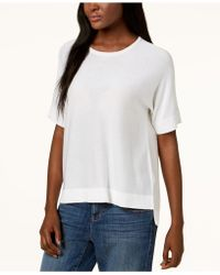 Eileen Fisher - ® High-low Elbow-sleeve Sweater - Lyst
