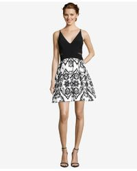 Xscape - Illusion-inset Embellished Fit & Flare Dress - Lyst