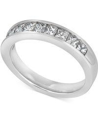3960b9cb3 Triton Tungsten Ring, Diamond Wedding Band (1/10 Ct. T.w.) in Metallic -  Save 19% - Lyst
