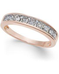 Macy's - Diamond Channel Ring In 14k Gold (1/2 Ct. T.w.) - Lyst