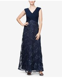 Alex Evenings - Embellished Surplice Gown - Lyst