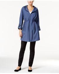Style & Co. - Hooded Rain Coat - Lyst