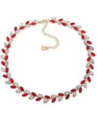 """Anne Klein - Multi-stone Vine-inspired Statement Necklace, 16"""" + 3"""" Extender, Created For Macy's - Lyst"""