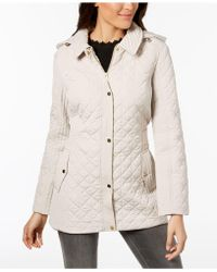 Jones New York | Hooded Quilted Coat | Lyst