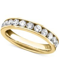 Macy's | Diamond Band Ring In 14k White Gold (1 Ct. T.w.) | Lyst