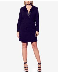 City Chic - Trendy Plus Size Double-breasted Tuxedo Dress - Lyst