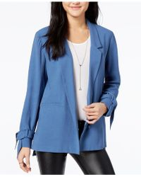 1.STATE - One-button Soft Jacket - Lyst