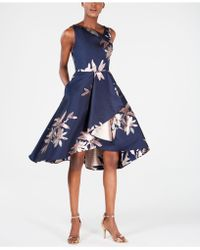 Adrianna Papell - Jacquard Fit & Flare Dress - Lyst