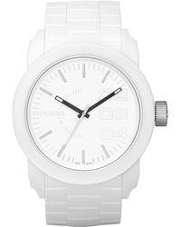 DIESEL - Watch, White Silicone Strap 44mm Dz1436 - Lyst