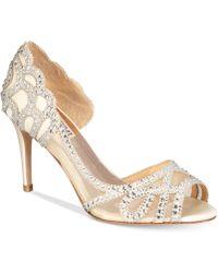 Badgley Mischka - Marla Embellished Peep-toe Evening Court Shoes - Lyst