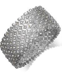Charter Club | Silver-tone Clear Crystal Stretch Bracelet | Lyst