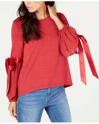 Vince Camuto - Tie-sleeve Top, Created For Macy's - Lyst