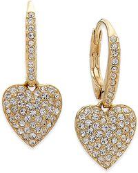 Danori - Pavé Heart Drop Earrings, Created For Macy's - Lyst