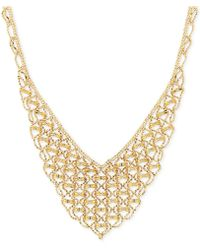 Macy's | V-shape Fancy Link Collar Necklace In 18k Gold | Lyst