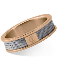 Charriol | Women's Forever Two-tone Pvd Stainless Steel Cable Ring 02-102-1139-8 | Lyst