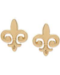 Macy's - Fleur De Lis Stud Earrings In 10k Gold - Lyst